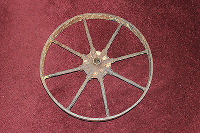 "Antique Farm Barn Wagon Wheel-8 Spoke Wheel-17"" Wheel-Country Decor-#1-LQQK"