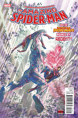 Amazing Spider-man (2015) #14 VF/NM Alex Ross Cover Iron Man