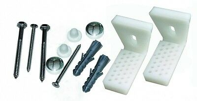 Angled Floor WC Toilet Pan Bidet Fixing Bathroom Fitting Kit With Brackets