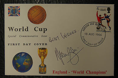Alan Ball Signed 1966 England World Cup Winners Football Cover