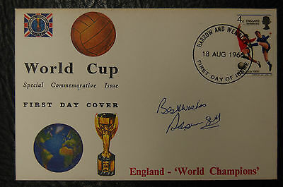 Ron Springett Signed 1966 England World Cup Winners Football Cover