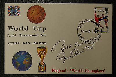 Bobby Charlton Signed 1966 England World Cup Winners Football Cover