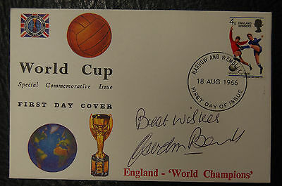 Gordon Banks Signed 1966 England World Cup Winners Football Cover