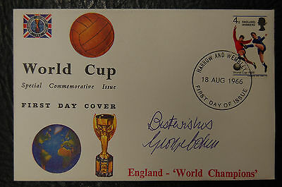 George Cohen Signed 1966 England World Cup Winners Football Cover
