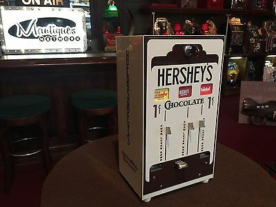 """Vintage Looking HERSHEY'S Chocolate Candy 1 Cent Wall Mount Vendor """"WATCH VIDEO"""""""