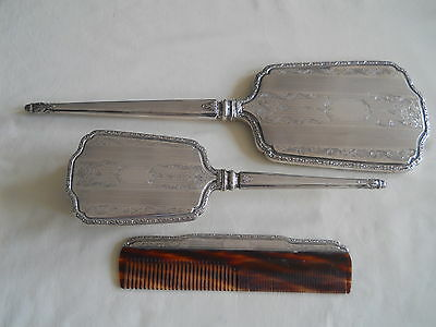 Absolutely Lovely Birks Sterling 3 Pc Vanity Dresser Set