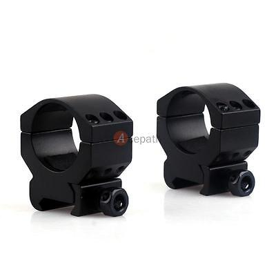 2PCS Tactical Low Profile 30mm Scope Rings Weaver Picatinny Rail Mount For Rifle
