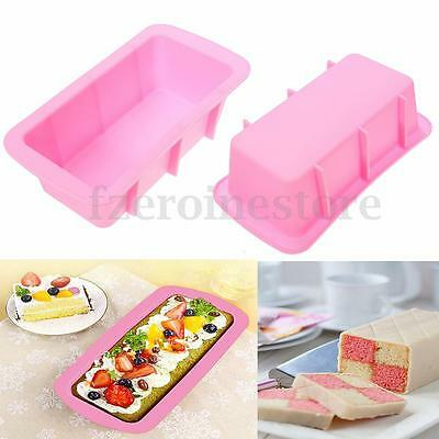 Silicone Bread Loaf Dessert Cake Mold Bakeware Baking Pan Oven Rectangle Mould