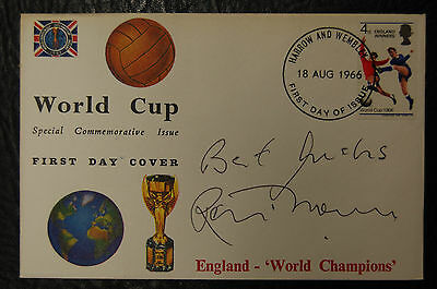 Ron Flowers Signed 1966 England World Cup Winners Football Cover