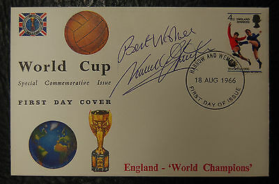 Norman Hunter Signed 1966 England World Cup Winners Football Cover