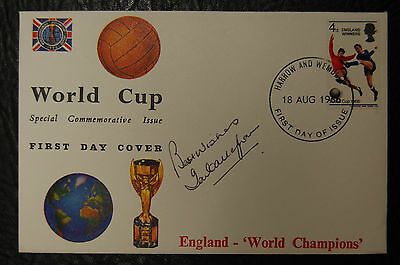 Ian Callaghan Signed 1966 England World Cup Winners Football Cover