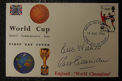 George Eastham Signed 1966 England World Cup Winners Football Cover