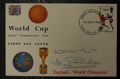 Jack Charlton Signed 1966 England World Cup Winners Football Cover