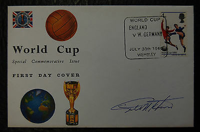 Geoff Hurst Signed 1966 England World Cup Final Football Cover