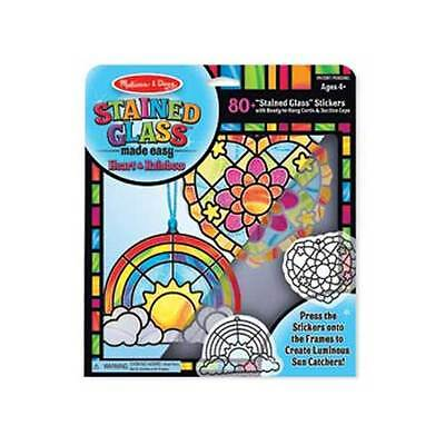 Melissa and Doug - Stained Glass Made Easy -Heart & Rainbow NEW toy