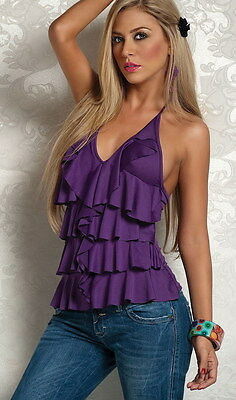 Top Tunique Volants - 40/44 - Chemisier Bustier Blouse Débardeur Robe Jupe