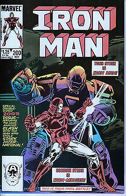 IRON MAN 200...NM-...1985...Death of Obadiah Stane...Denny O'Neill...Bargain!