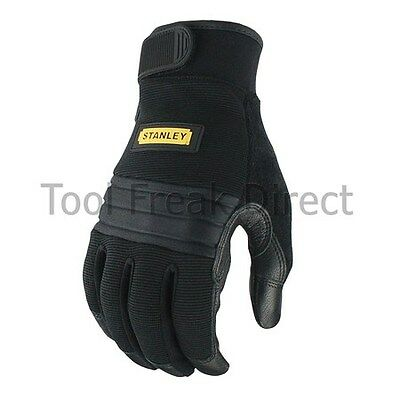 STANLEY Work Gloves Anti Vibration Black Size Large Performance Gloves SY800