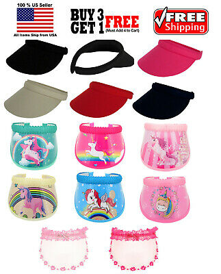 Kids Boys Girls Fashion Clip On Visor Wide Brim Sun UV Protection Cap Cover Hat