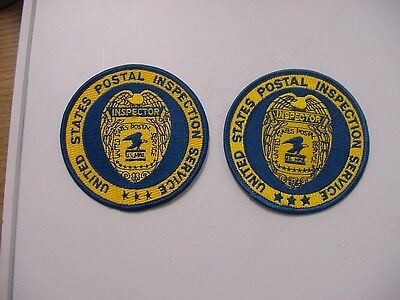 "set of 2 vintage united states postal inspection service  patch ""inspector""-2.5"""
