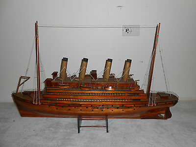 Very Fine Wooden Model Of A Ship