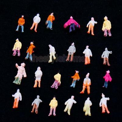 100Pcs Painted Model Train People Figures Train Scenery Layout 1:200 Scale Z