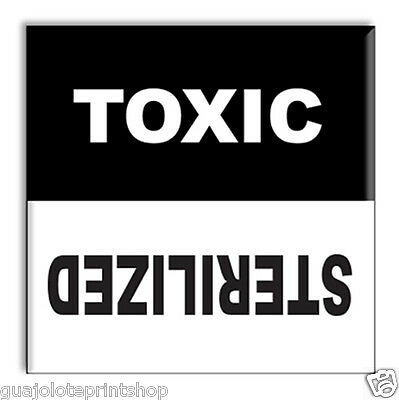 Clean Dirty Dishwasher Flip Magnet - Toxic Sterilized- Funny Laboratory Gag Gift