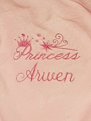 Personalised baby dressing gown Princess Prince Infant Gift embroidered name