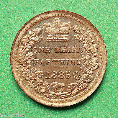 1885 Queen Victoria - Third Farthing - Uncirculated Full lustre cover - SNo41639