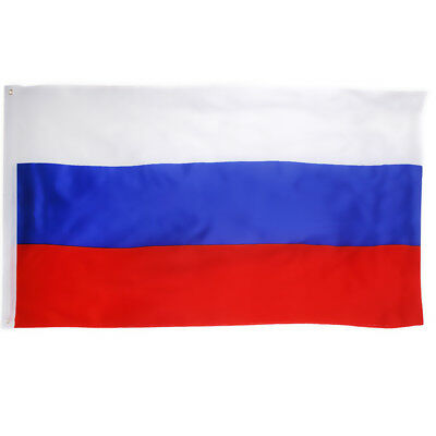 RUSSIA FEDERATION RUSSIAN LARGE FLAG 5X3FT EYELETS HANGING BANNER 150 x 90CM