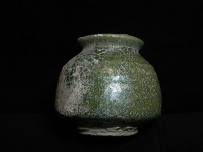 Zurqieh - Holy Land. 1500 B.c Glazed Terracotta Vessel. Very Rare!