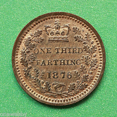 1876 Queen Victoria Third Farthing UNC/EF Reasonably good lustre SNo41660