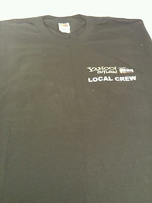YAHOO! OUTLOUD Music Tour Local Crew T-shirt Unisex XL