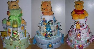Baby Shower 3 Tier Winnie The Pooh Diaper Cake