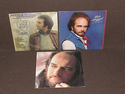 MERLE HAGGARD 3 LP RECORD ALBUMS LOT COLLECTION Country Game/Dixie Blues/Goes