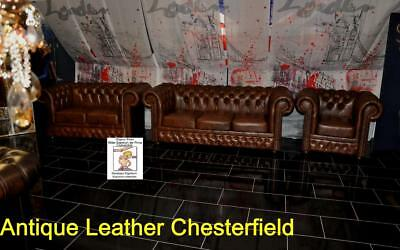 Chesterfield Osborne Antique Leather Chesterfield A400