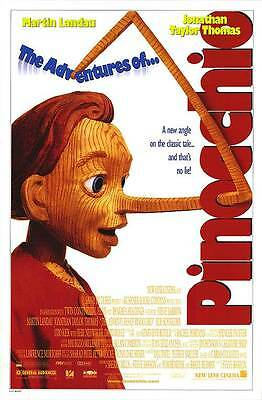 The Adventures of Pinocchio Original Movie Poster (1996) 27x40