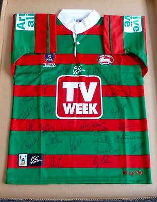 Rabbitohs  South Sydney  Return Of The Rabbitohs Jersey  Team Signed