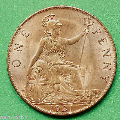 1921 George V Penny UNC Uncirculated SNo40744