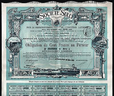 1909 Tours, France: Societe Sully - French Dairy Industry