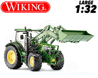 Wiking 077344 John Deere 6125 Tractor & Fr Loader 1:32 Collectors DieCast Model
