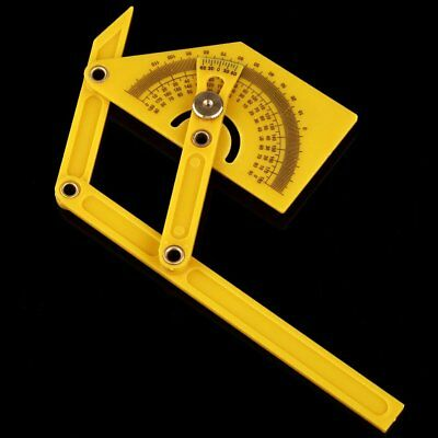 "6"" Angle Finder Protractor Goniometer Miter Gauge Plastic Brass Fittings"