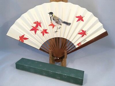 Japanese 'Sensu' Folding Fan Honoring Rennyo from Kyoto's Higashi Honganji: J12