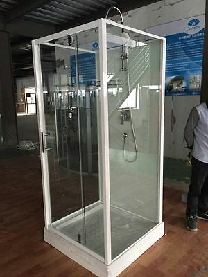 NEW PIVOT SHOWER SCREEN ENCLOSURE BATHROOM CUBICLE - White (90)