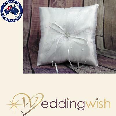 Wedding Ring Pillow - Elegant Pearls, Vintage, Rustic Ring Bearer Cushion