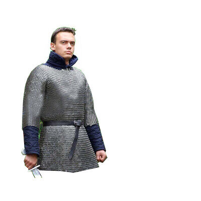 Chainmail Shirt Small Armour 10 Mm Flat Riv With Washer Chainmaille Haubergeon