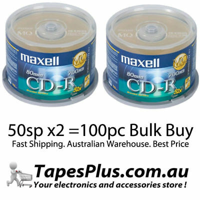 100 Maxell Gold Blank CD-R media 52X CD -R CDR Original Factory Seal CDR CD AP-C