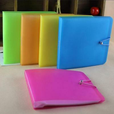 Plastic CD DVD Disc Double Sleeve Holder Clear Envelope Storage Cases Bag Covers