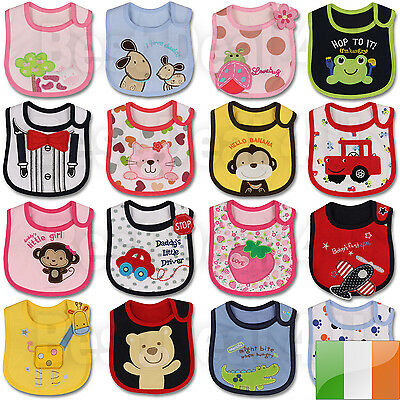 Baby Girl Boy Waterproof Carter Cartoon Towel Kids Toddler Dinner Feeding Bibs