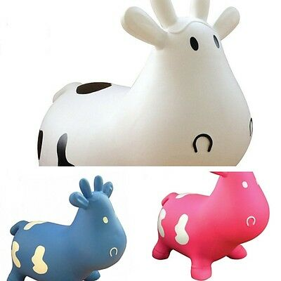 Cow Space Hopper Jump Bounce Outdoor Toy Kids Inflatable Game Garden Bouncing